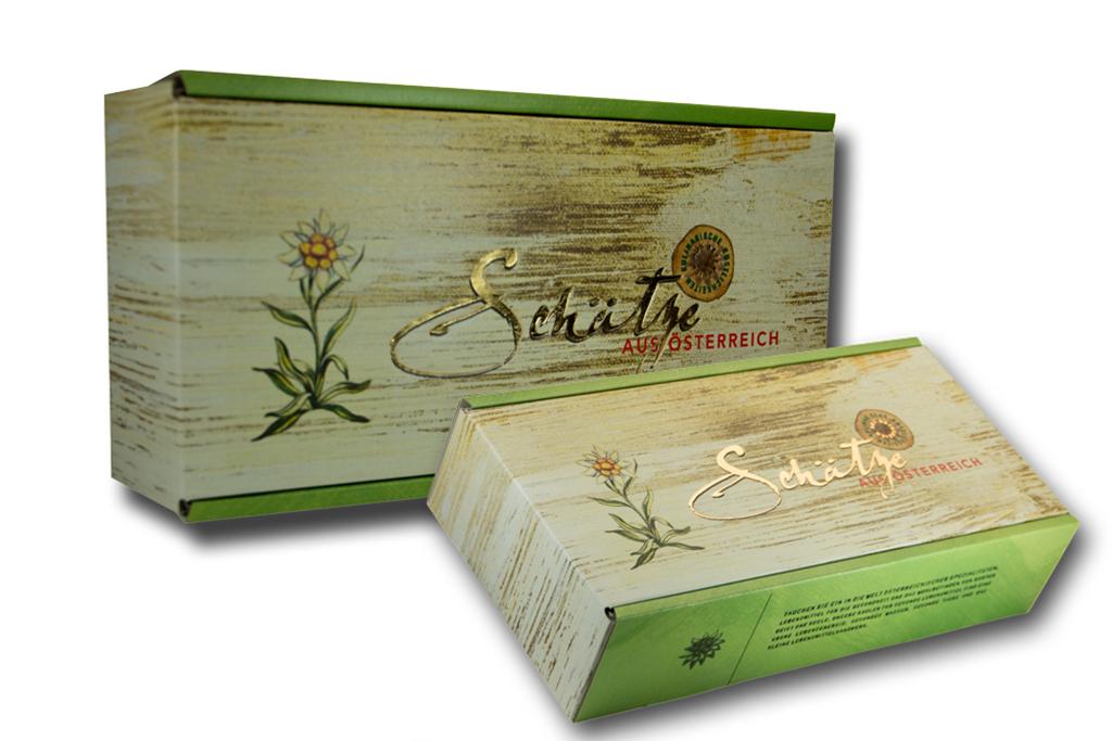 Geschenke Karton von Schätze aus Österreich