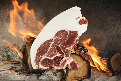 Mangalitza Kotelett am Grill