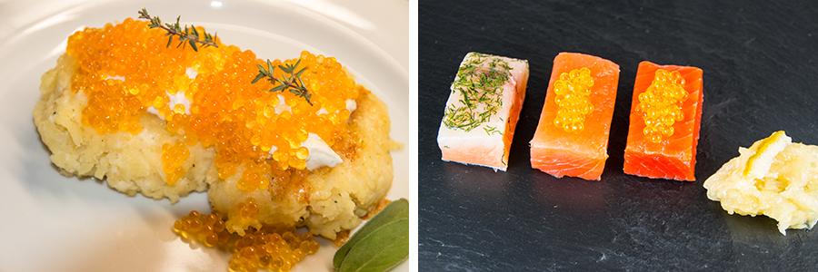 Saiblinskaviar und Sushi
