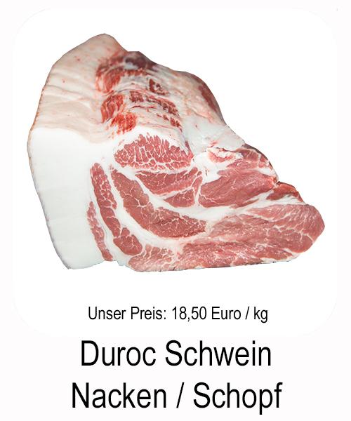 Schweinenacken vom Duroc Schwein