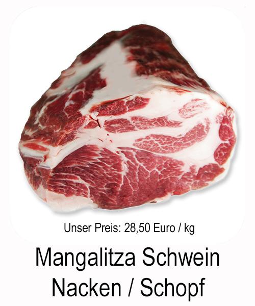 Schweinenacken vom Mangalitza Schwein