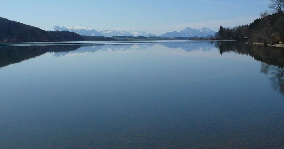 Der See der den Himmel spiegelt